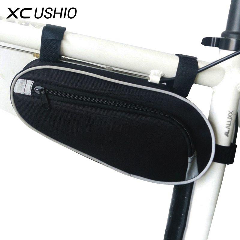 블랙 컬러 '저항 야외 사이클링 자전거 삼각형 가방 산악 자전거 프런트 튜브 프레임 가방 방수 파우치 가방