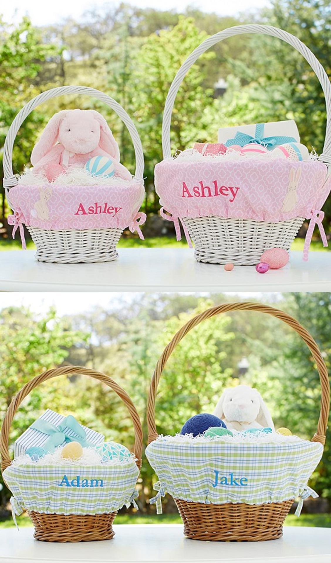 Personalized Easter Baskets Pottery Barn Kids Boys