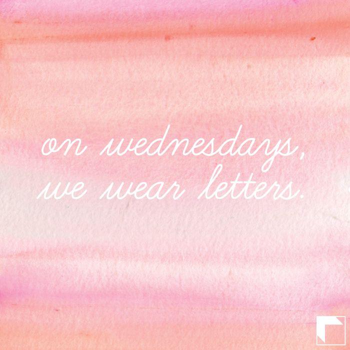 On Wednesdays, we wear letters. <3 Adam Block Design | Custom Greek Apparel & Sorority Clothes | www.adamblockdesign.com