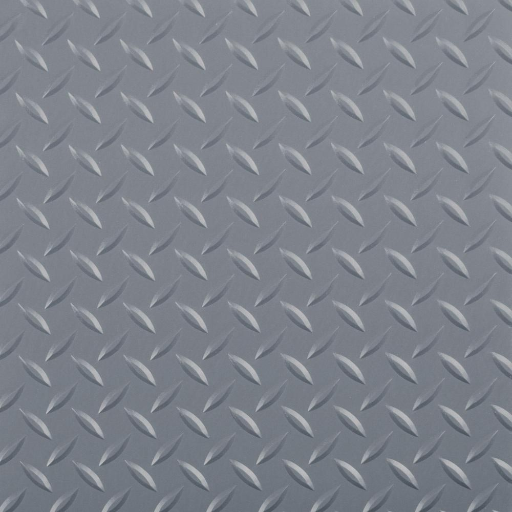 G Floor Diamond Tread 5 Ft X 10 Ft Slate Grey Commercial Grade Vinyl Garage Flooring Cover And Protector Gf75dt510sg Vinyl Garage Flooring G Floor Peel Stick Tile