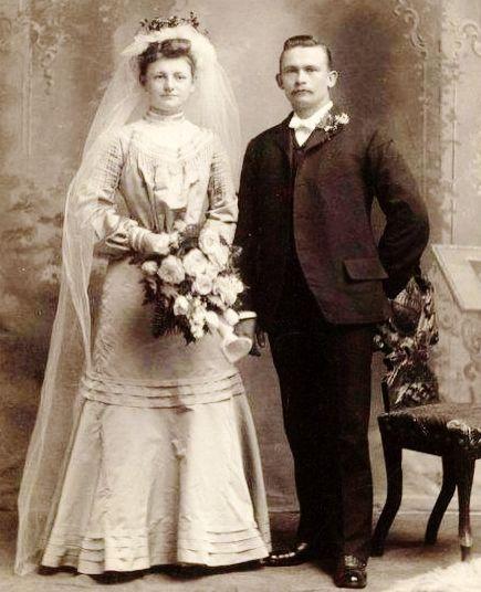 Abiti Da Sposa 1900.Bride And Groom C 1900 Matrimonio
