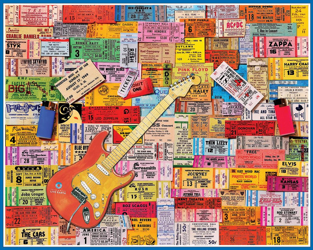 White mountain puzzles rock memories concert tickets do it white mountain puzzles rock memories concert tickets do it yourself jigsaw puzzle boxed solutioingenieria Image collections