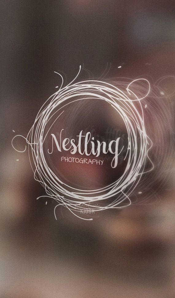 Nest Logo. Instant Download Logo. Premade Logo Design. DIY Watermark ...