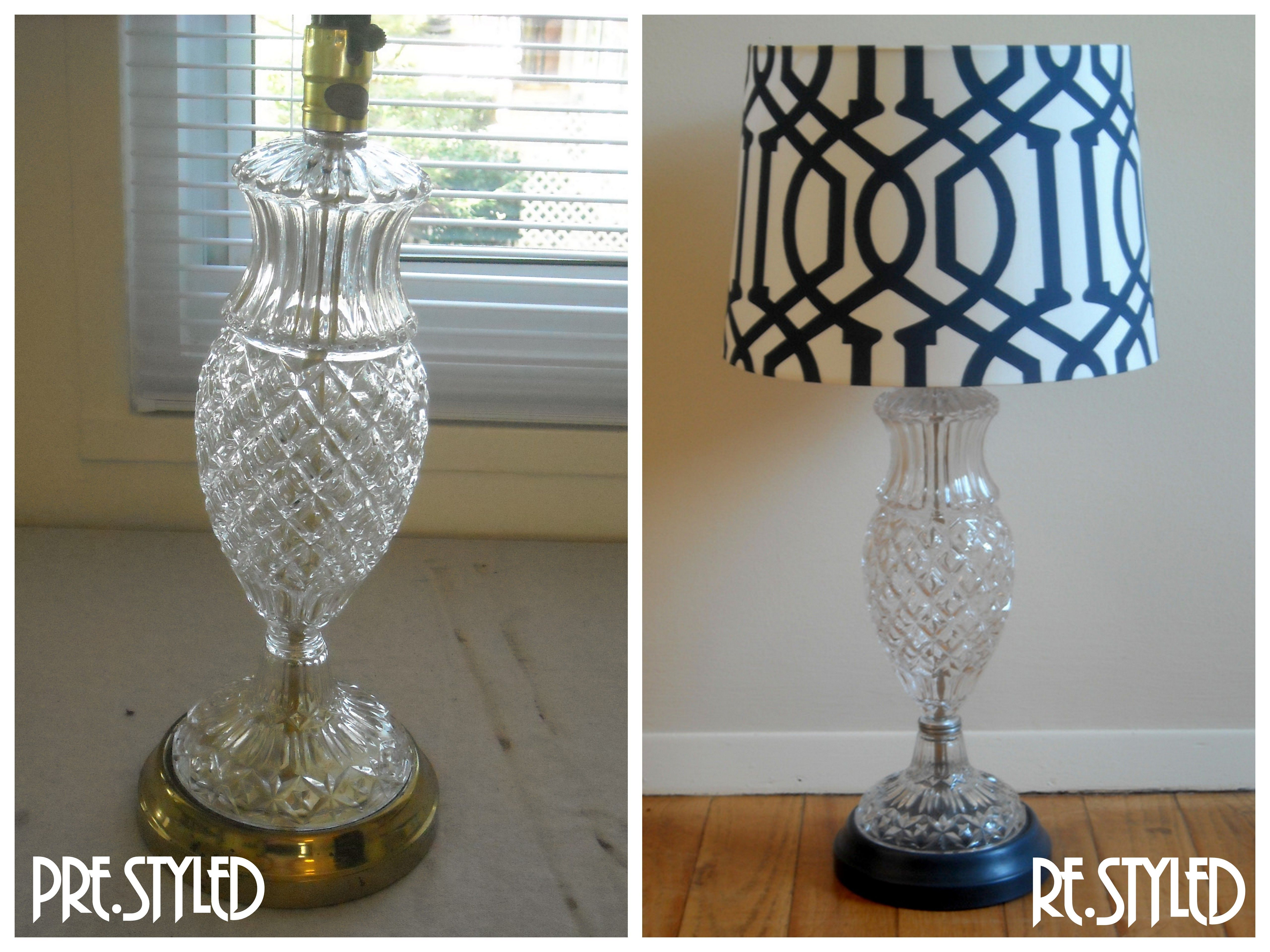 Vintage Crystal Lamp Re Styled With Chalk Paint 174 By Annie