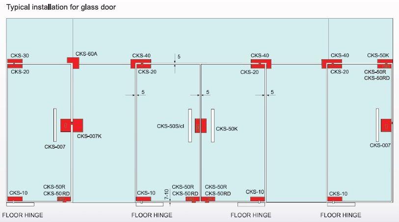 Cks Glass Hardware Floor Hinge Supplier And Distributor In