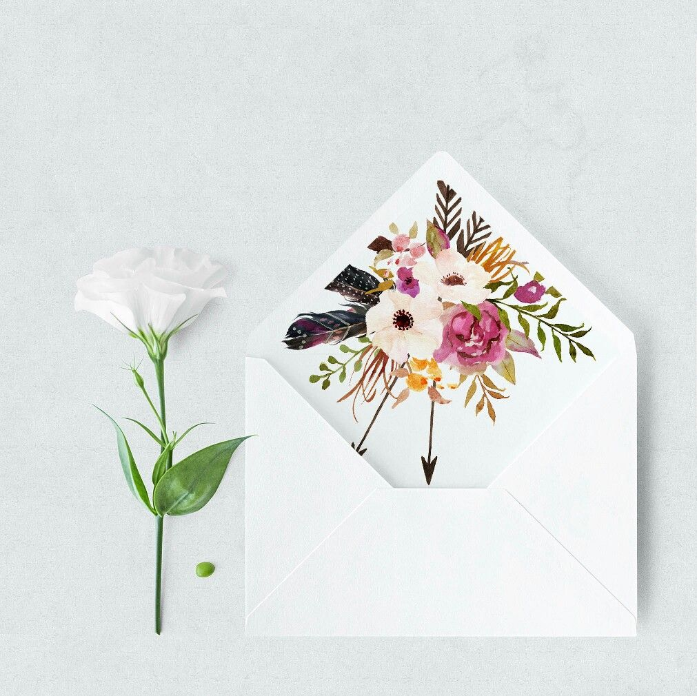 Boho Envelope Liners A7 And A2 Floral Envelope Liners Envelope