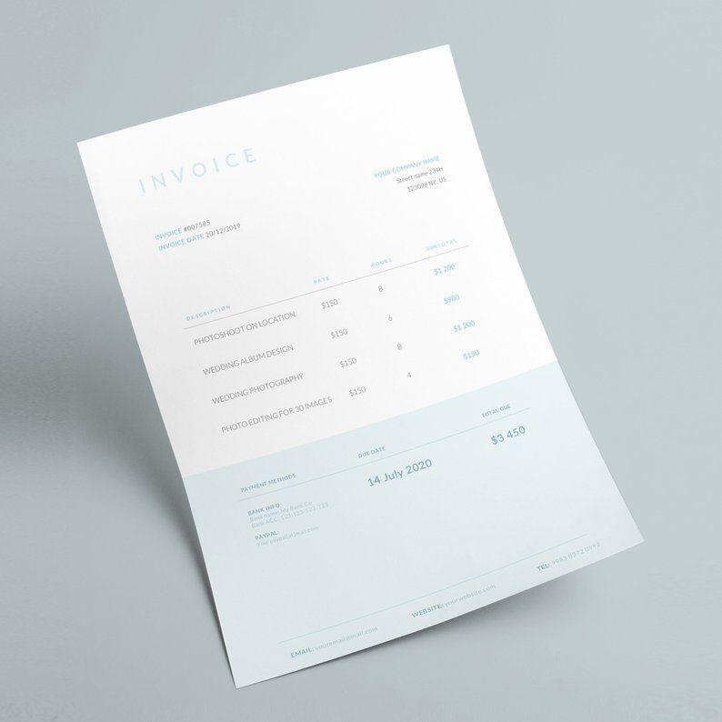 Invoice Template Business Invoice Receipt Template Etsy Invoice Template Invoice Design Photography Invoice Template