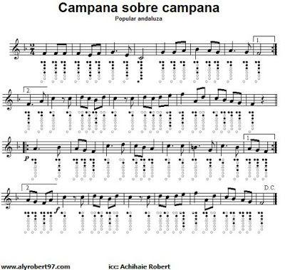 Campana Sobre Campana Partitura Para Flauta Dulce 23112 5 1 Jpg 400 379 Sheet Music Songs Flute