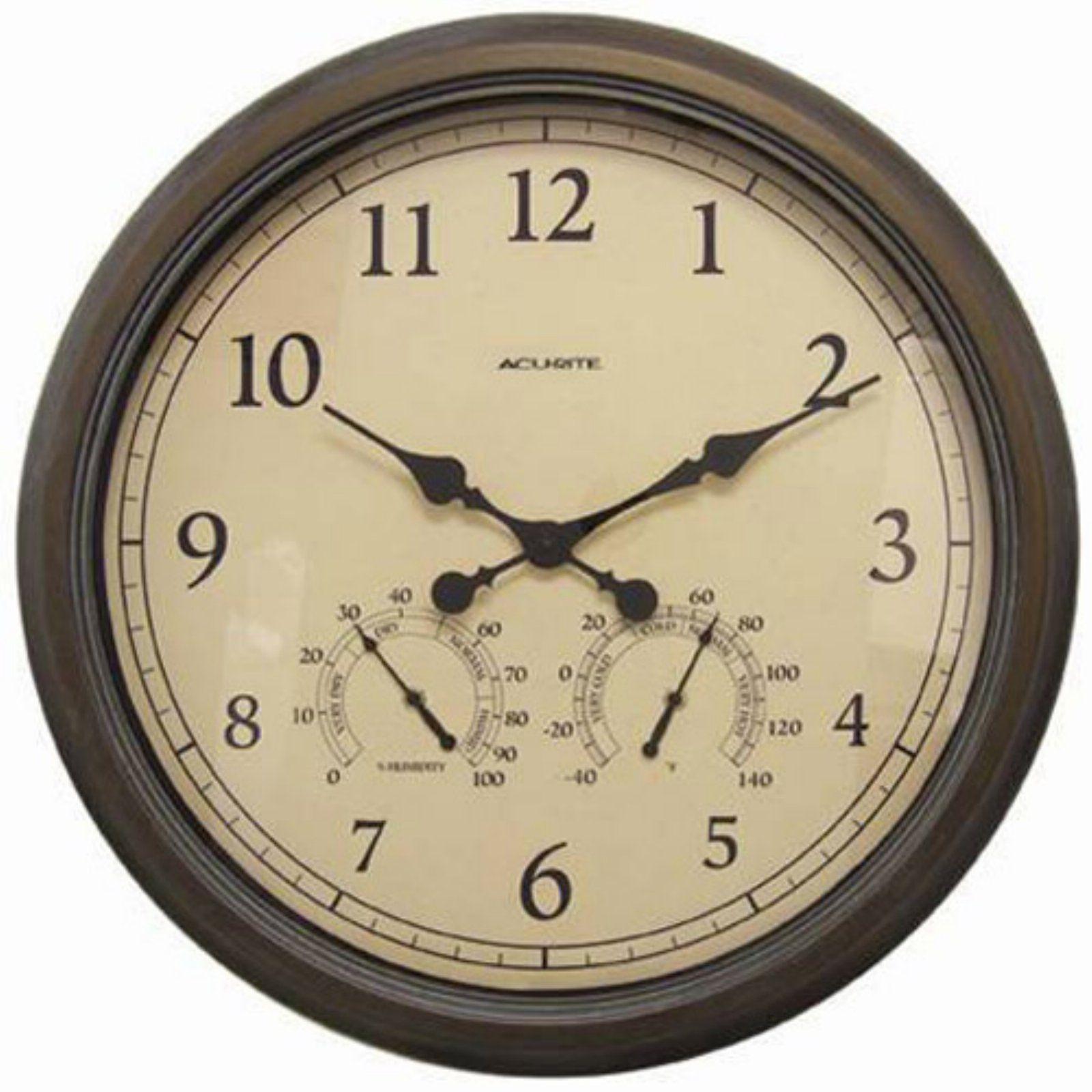 Acu Rite Indoor Outdoor Copper Patina 24 In Wall Clock In 2021 Large Outdoor Clock Outdoor Clock Outdoor Wall Clocks 24 inch outdoor clock