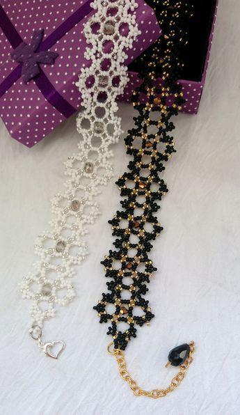 Black Beaded Choker Beaded Women's Necklace For he