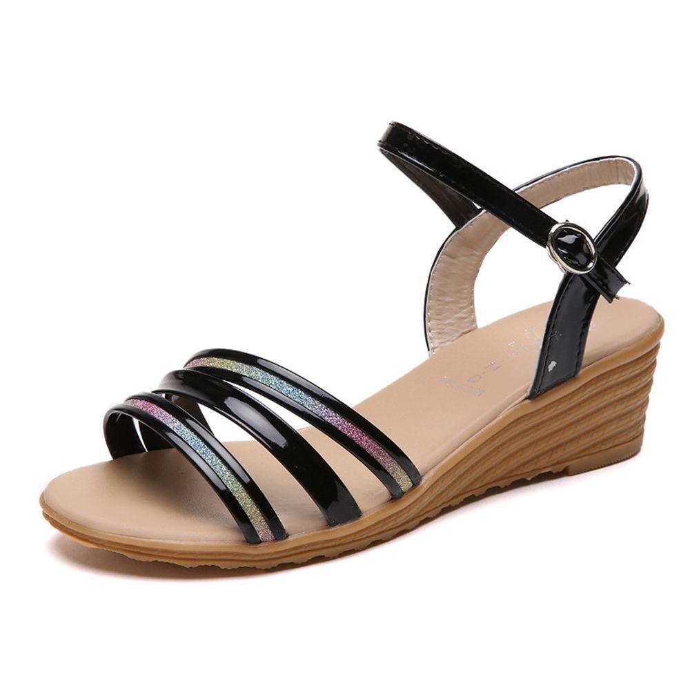 8505fa7002b4 Women Summer Roman Sequined hasp Beach Sandals  women  shoes  trend  moda