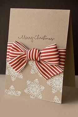 Sofisticado carto de natal visite nosso portal que est conectando awesome card with kraft card and big bow m4hsunfo