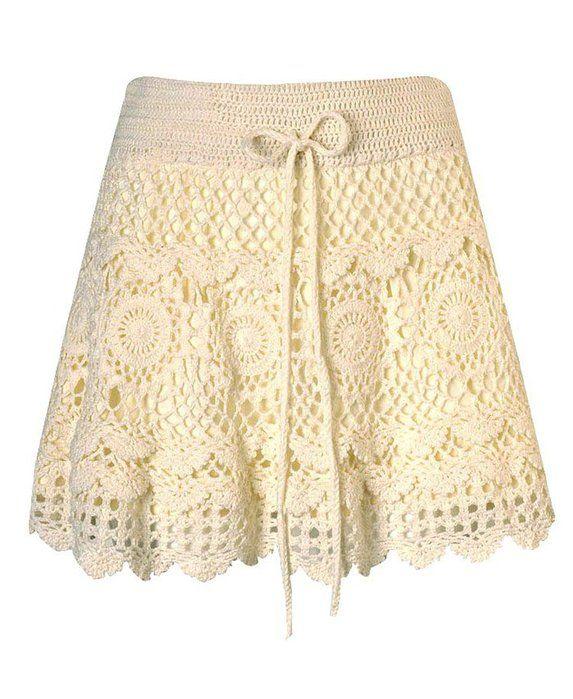 Summer Skirt Free Crochet Graph Pattern Tricot Pinterest
