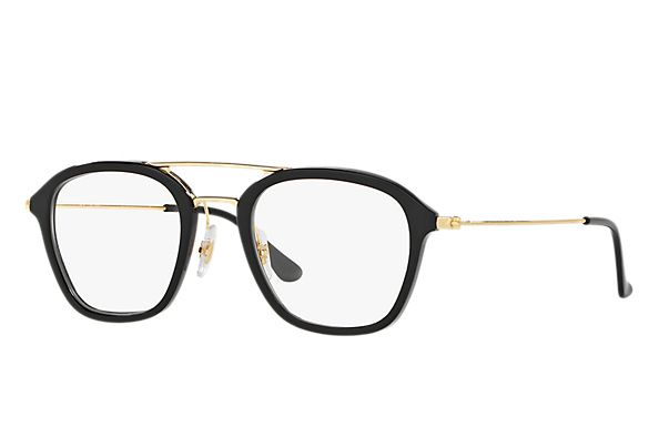39fbfd174638 Ray-Ban 0RX7098-RB7098 Black  Gold OPTICAL Eyeglasses