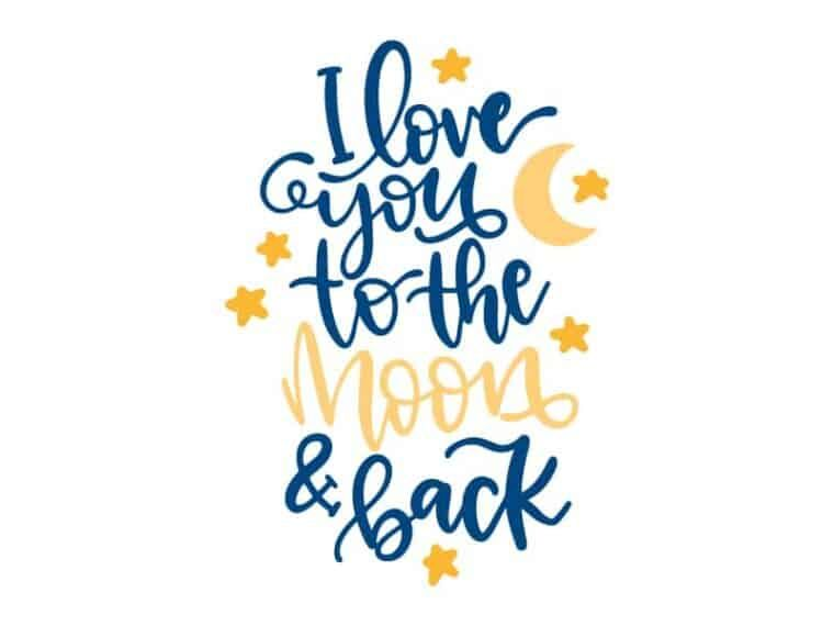 Download Free I love you to the moon and back SVG DXF PNG & JPEG in ...