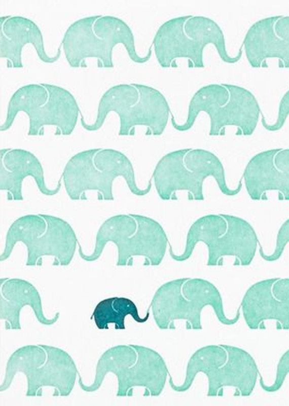 Elephant Baby Shower Invitation Original Hand Drawn Art To Etsy Prints Pattern Wallpaper Iphone Wallpaper