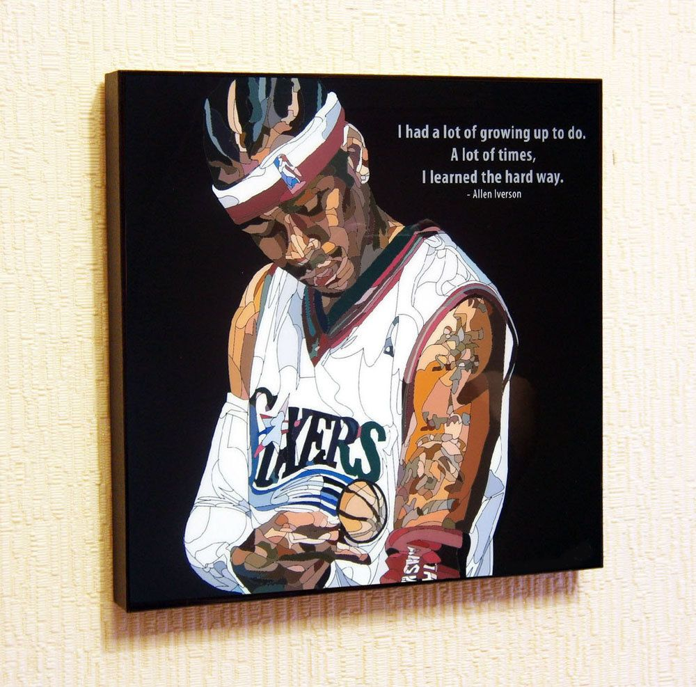 Allen iverson pop art home decor wall art print etsy for Eminem wall mural