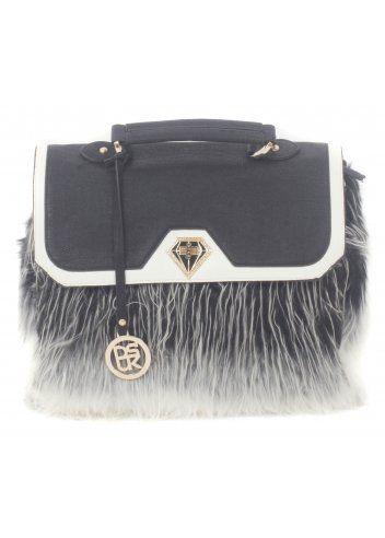 fd82ffc3b15 DSUK Monochrome Large Faux Fur Tote Bag   Designer Faux Fur ...