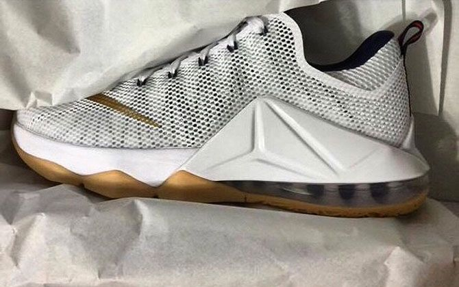 5a232825f81 Here is a look at the upcoming Nike LeBron 12 Low White Gum Bottom Sneakers  available now HERE with more sizes HERE .