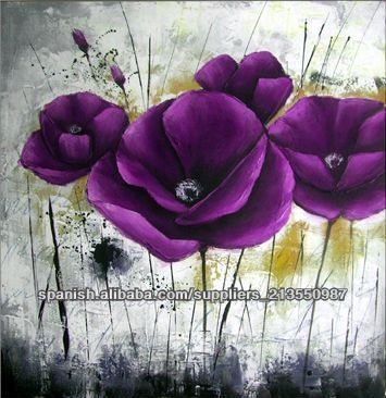 Art Flowers Flower Painting Canvas Small Modern Oil Paintings Acrylic Floral Design