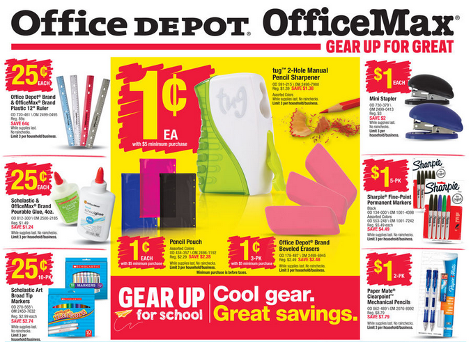 Image result for office depot school supplies ad