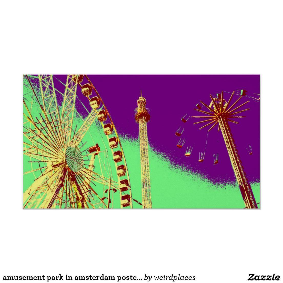 amusement park in amsterdam posterize effect photo