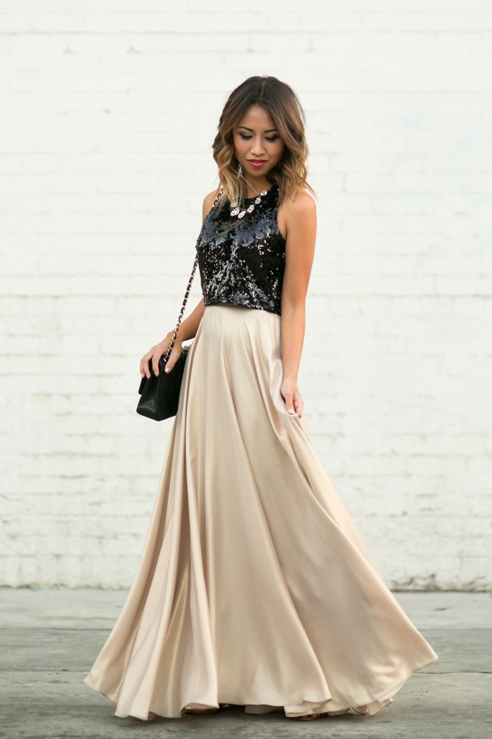 Full Maxi Skirt | Best Sequin maxi skirts, Sequin maxi and ...