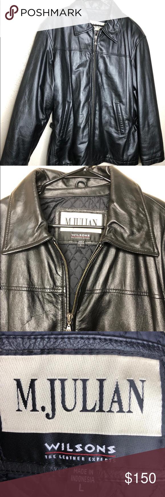 M Julian Wilson 100 Leather Jacket M Julian Wilson 100 Leather Jacket Made In Indonesia Size L Wilsons Lea Leather Jacket Jackets Wilsons Leather Jacket