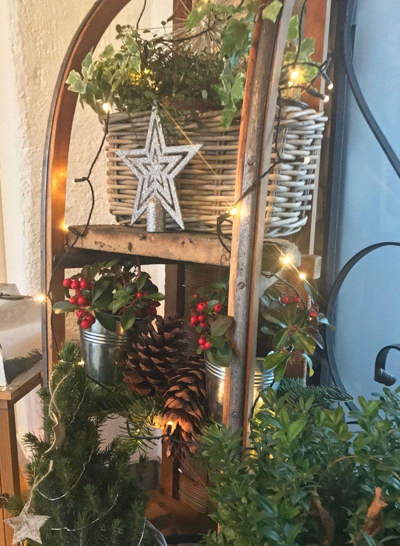 Alter Schlitten - neuer Glanz! Weihnachtsschlitten #outdoorchristmasdecorations