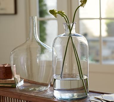 Clear Glass Vase Collection #potterybarn moms house Pinterest