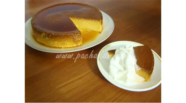 Pumpkin Caramel Pudding with whipped cream
