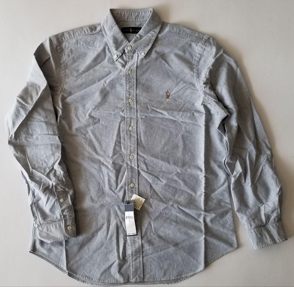 98b1a0c899f  89.50 Polo Ralph Lauren 100% Cotton Gray Oxford Button Down Shirt  fashion   clothing  shoes  accessories  mensclothing  shirts (ebay link)