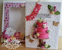 21e Birthday Card  3D Cake with box