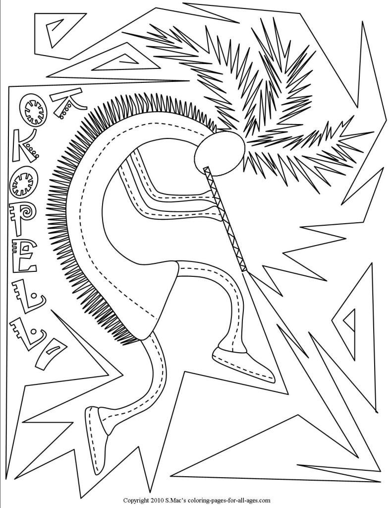Kokopelli Coloring Pages S Mac S Place To Be Coloring Pages Pyrography Patterns Native American Patterns