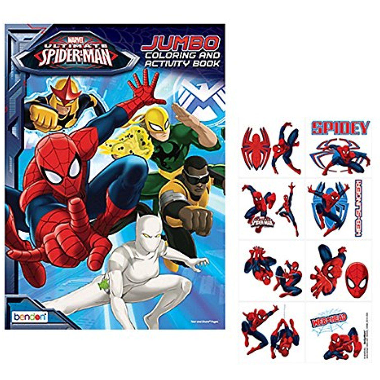 Marvel Ultimate Spider Man Jumbo Coloring Artscrafts Ultimate Spiderman Marvel Ultimate Spider Man Spiderman