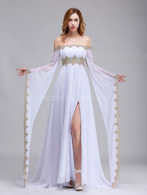 Photo of Off the Shoulder Medieval Wedding Dress W1064 …