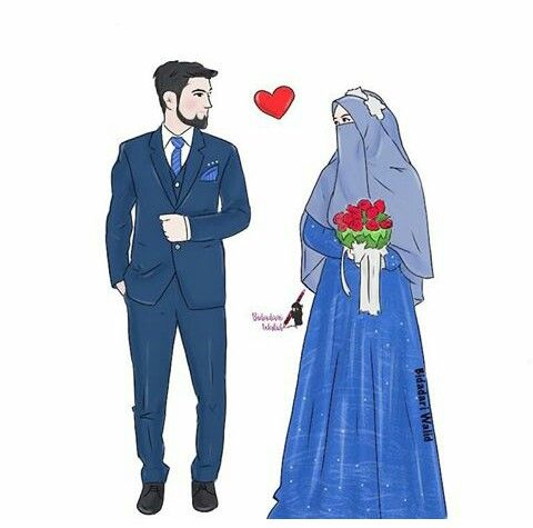 Pin By Dewi Shinta Octariati On Silluet Coup Muslim Couples Cute Muslim Couples Anime Muslim