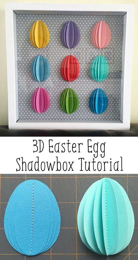 Easter Crafts Decorations 3d Paper Easter Egg Shadowbox