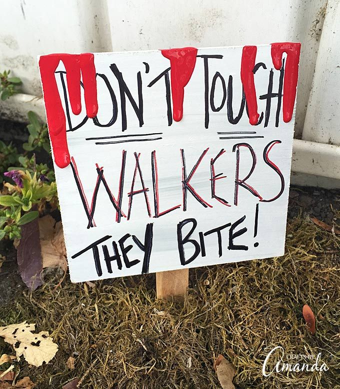 """How To Make A Walking Dead Door That Says """"Don't Open"""