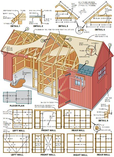 Do It Yourself Home Design: How To Build A Shed - Example 1