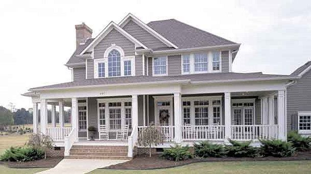 Country Style House Plan - 3 Beds 2.5 Baths 2112 Sq/Ft Plan #120-134 #dreamhouses