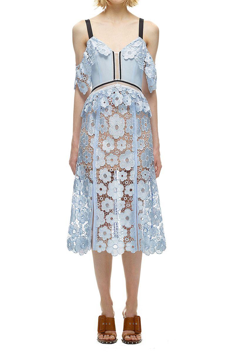 dbe58f6b9a6b7 $328.00 Self-Portrait Anemone Guipure Lace Dress | Clothes | Lace ...