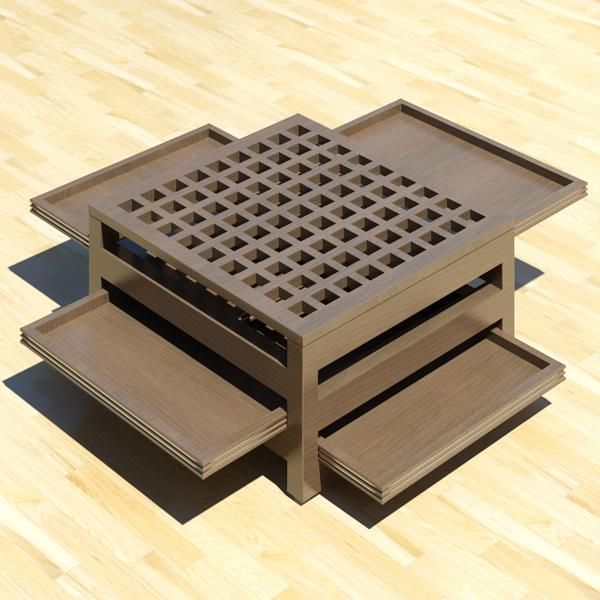 A 3D model generated image) of a japanese modern