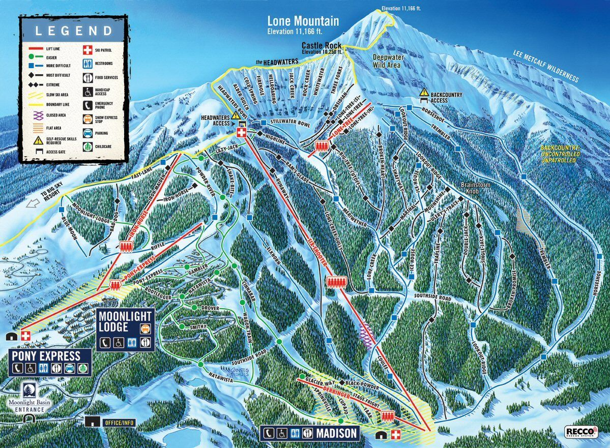 Big Sky Montana Lone Mountain Ski Resort Loved Skiing Here