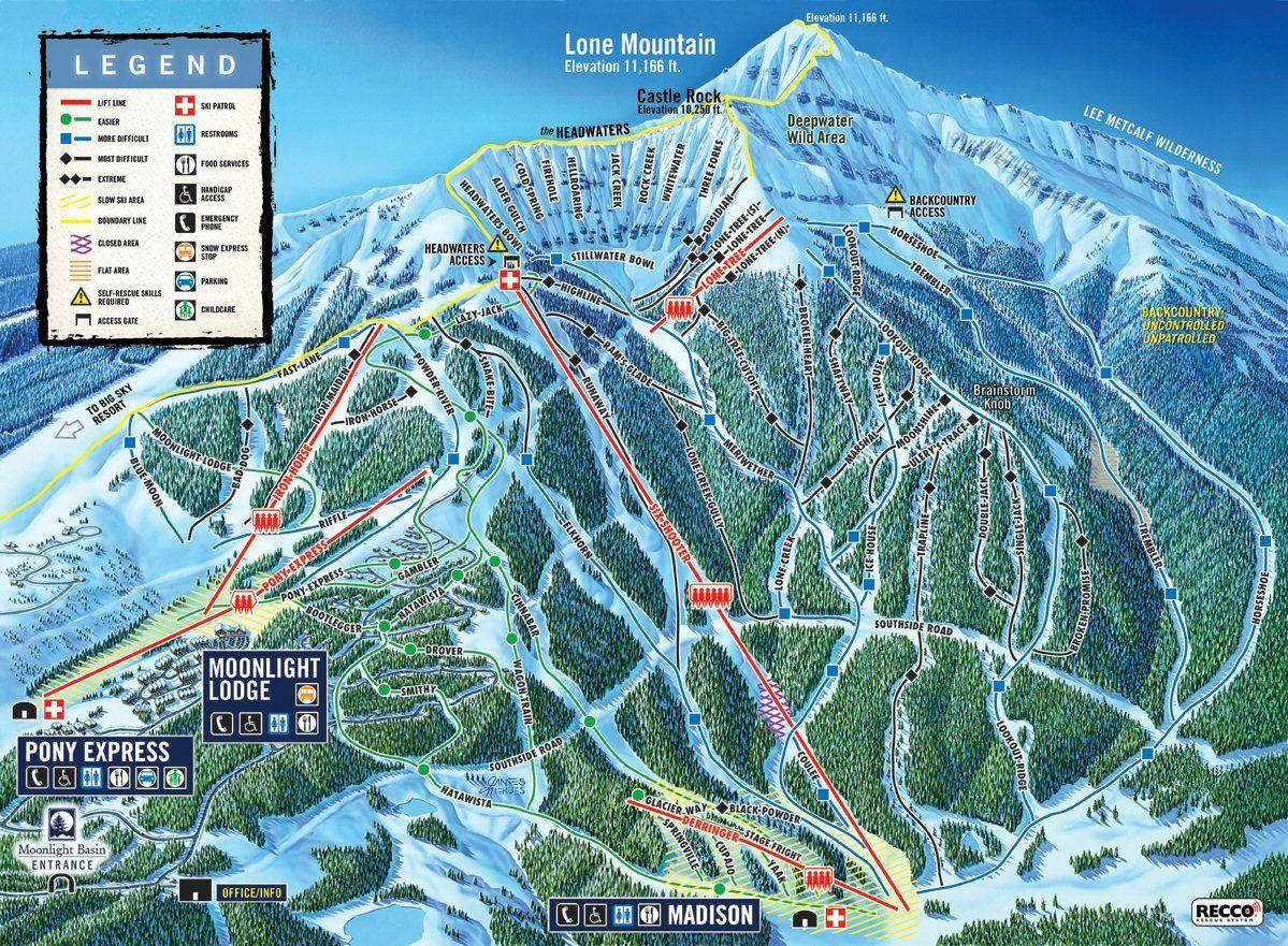 Big Sky Montana Lone Mountain Ski Resort Loved Skiing Here Ski Trip Big Sky Country Big Sky