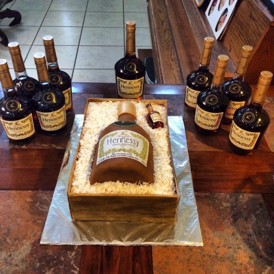 Hennessy Cake Www Cakebycindy Com In 2019 Hennessy Cake