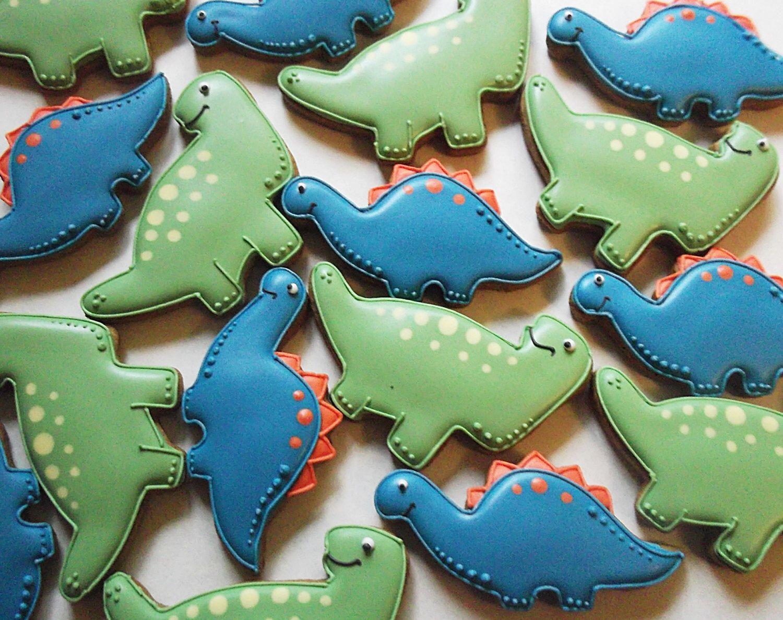 Cute Dinosaur Cookies Dinosaur Party Biscuits Childrens