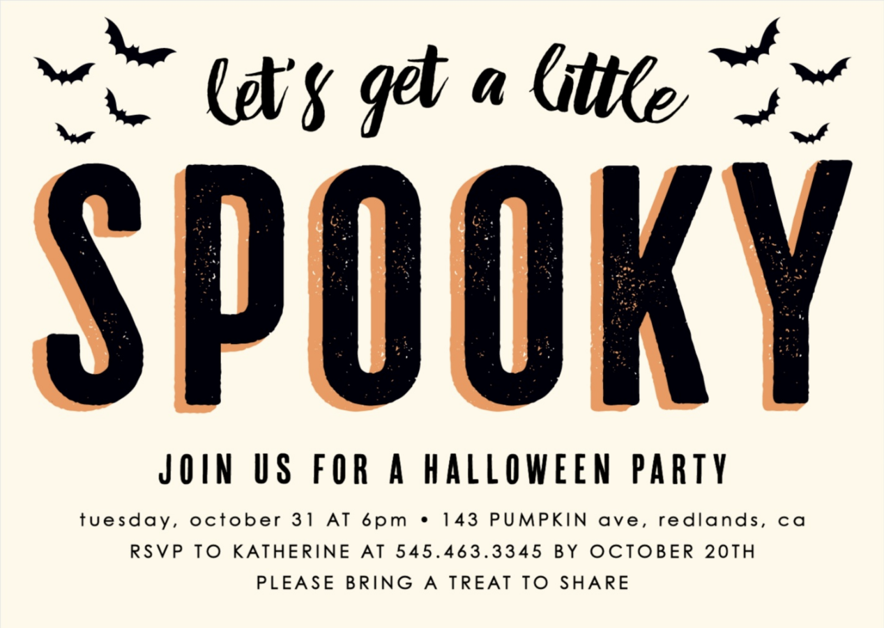 Hurry before it\'s too late! Order your Halloween party invitations ...