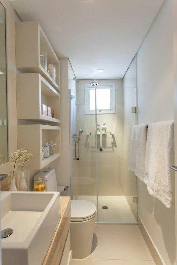 Comment aménager une salle de bain 4m2? Taupe