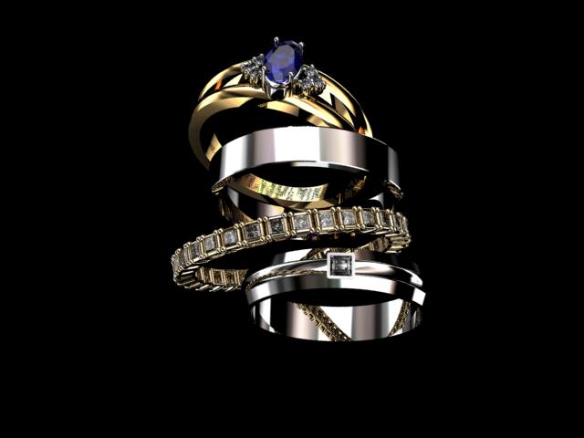 Anéis em Ouro 18k, Alianças Ouro Branco e Ouro Amarelo.